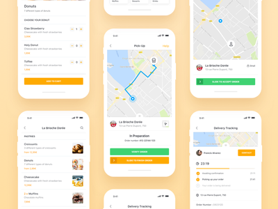 Be My Bee iOS App Overview user interface user experience product order ui ux shopping ecommerce application restaurant profile clean app design food delivery app bemybee ios minimal app