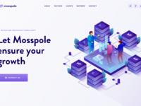 Mosspole landing page header