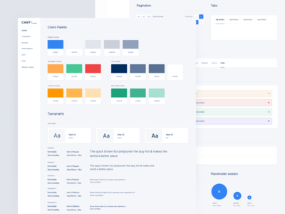 Cast Soft Light Style Guide web design website widget interface product clean interface app dashboard sketch app prototype material design user experience user interface ui ux kit pack styleguide style guide design system