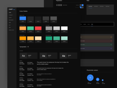 Cast Soft Dark Style Guide design system styleguide style guide ui ux kit pack user interface user experience prototype material design sketch app app dashboard clean interface interface product website widget web design