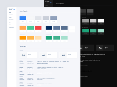 Cast Soft Light And Dark Style Guide design system styleguide style guide ui ux kit pack user interface user experience prototype material design sketch app app dashboard clean interface interface product website widget web design