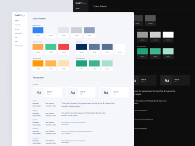 Cast Soft Light And Dark Style Guide