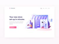 E-Commerce Illustrations Website Example