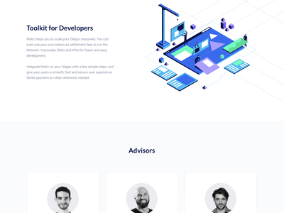 Matic Network Landing Page ui ux serverless hosting security hosting platform minimal clean design decentralized network data storage dark landing page ui cryptocurrency crypto content delivery blockchain website bitcoin