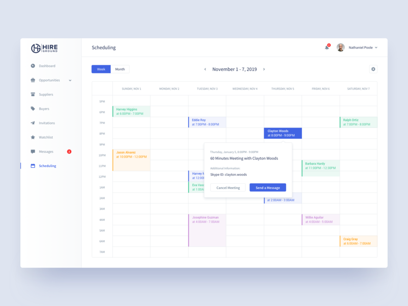 Hire Ground   Scheduling e-resources saas platform corporate buyers suppliers resource management hire ground desktop log in hiring platform login sign in analytics dashboard product design