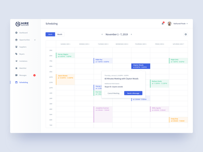 Hire Ground | Scheduling e-resources saas platform corporate buyers suppliers resource management hire ground desktop log in hiring platform login sign in analytics dashboard product design