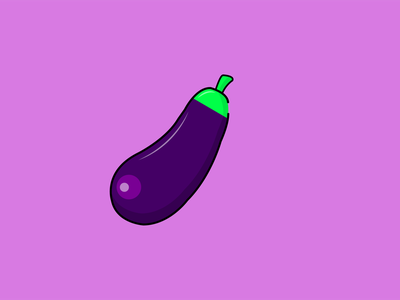 Aubergine Vector Art application illustration gradient logo minimal icon vector ux ui design