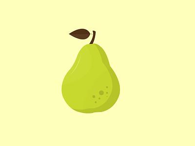 Pear Vector art branding ui design ux ui design animation illustration button app icon typography logo vector