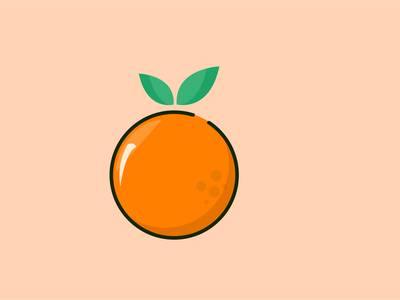 Orange Vector Art icon app animation vector illustration web branding ux ui design