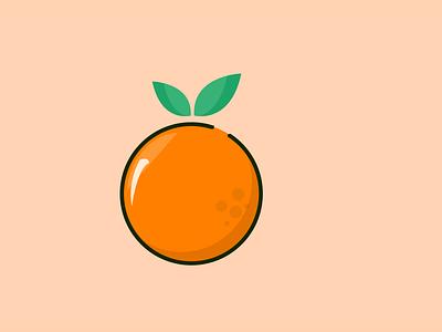 Orange Vector Art icon app animation vector illustration web branding ux ui design