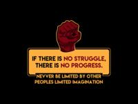 No Struggle, No Progress inspirational wallpaper