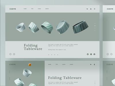 Folding Tableware branding ui product tableware banner
