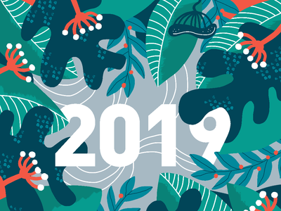 Happy 2019 ! nature design 2019 illustration illustartor