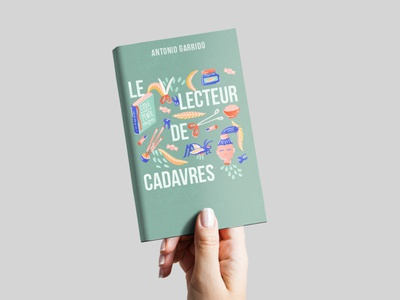 Le lecteur de cadavre handtype typography artdigital drawing artwork graphicdesigner graphicdesign creative illustration design book cover