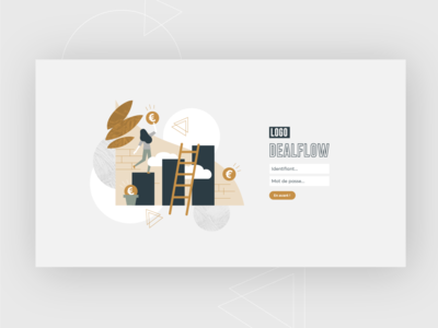 UX-UI DEALFLOW 1 typography art direction branding artdigital design graphicdesign illustration uxui uidesign uxdesign