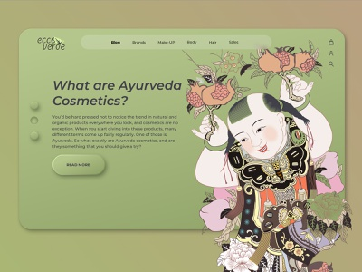 Eco-Cosmetic online shop olive ayurveda ayurvedic shop online ecommerce design online shop landingpage logo design cosmetics blog
