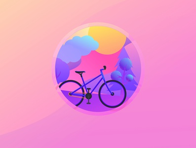 Bicycle illustration flat illustration cycling vector illustration bicycle