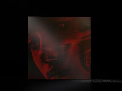 Shelby rap music design concept music cover design car shelby dark red design vinyl cover
