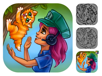 The icon for Appstore mobile game game game art icon