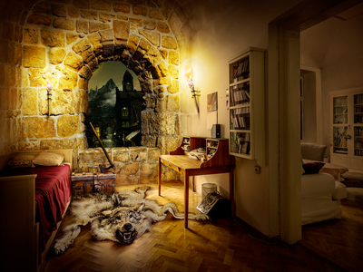 Matte Painting: the room in fantasy style room mattepainting illustration fantasy