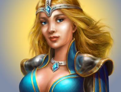 A Princess. v1 fantasy artwork illustration character character design