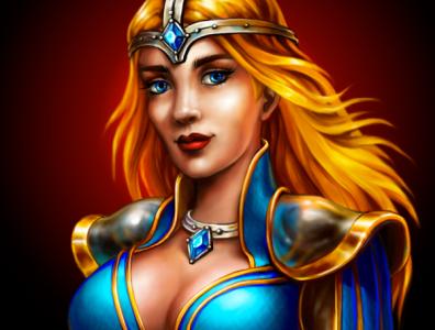 A Princess.v2 fantasy character design character