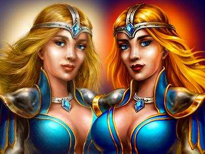 The Princess: v1 & v2 fantasy character design character