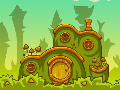 Houses And Backgrounds For The Game By Yulia Tein On Dribbble
