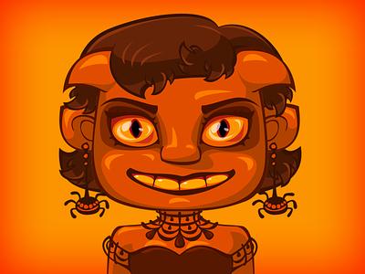 The demoness for the Game game demon halloween dribbbleweeklywarmup