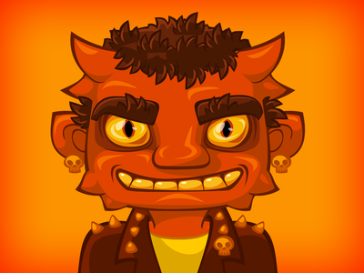 Demon for the game halloween dribbbleweeklywarmup