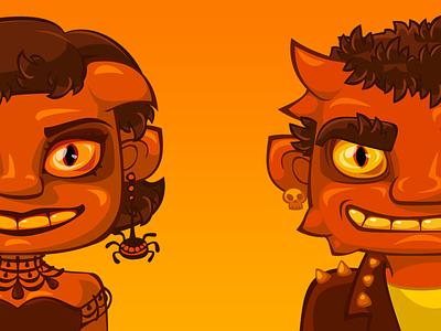 Demons for the game halloween dribbbleweeklywarmup