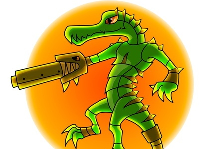 The Crocodile for the Game illustrator vector cartoon character design game art