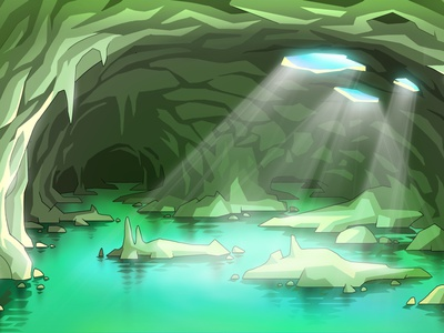 The Background for the Game background cartoon illustration game art