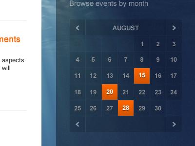 Small calendar calendar transparency alpha blue orange