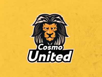 Cosmo United Cricket Logo infographics lion logo cosmounited cricket illustration vector branding cricket logo