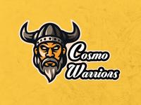 Cosmo Warriors Cricket Logo cricket cosmos logo branding typography design vector illustration infographics icon cricket logo
