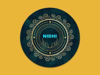 Nidhi icon vector branding logo coasters illustration