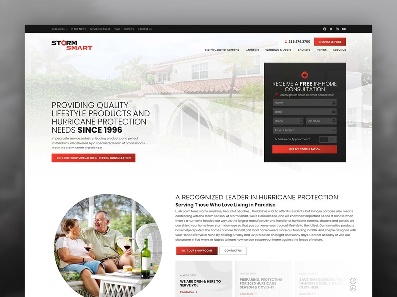 Storm Smart design wordpress design wordpress website website design web design home improvement