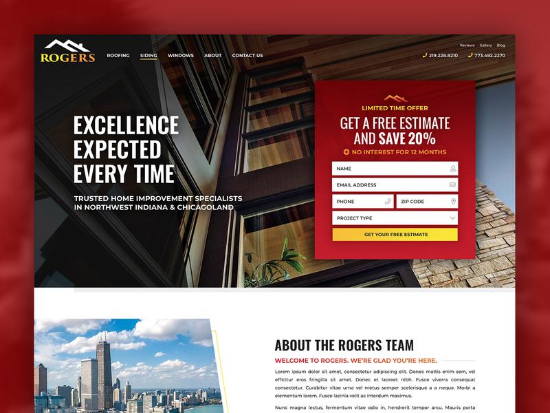Rogers Roofing roofing design wordpress wordpress design website design web design website homepage design homepage home improvement
