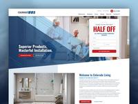 Colorado Living ui design wordpress design website website design wordpress web design homepage design home page homepage home home improvement
