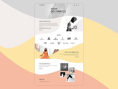 Spring Summer 2020 Campaign Landing Page luxury lifestyle web template minimal flat branding design digital