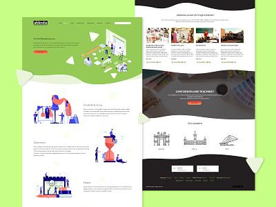 Design School Website - AFDIndia minimal illustration flat creative digital design ui branding