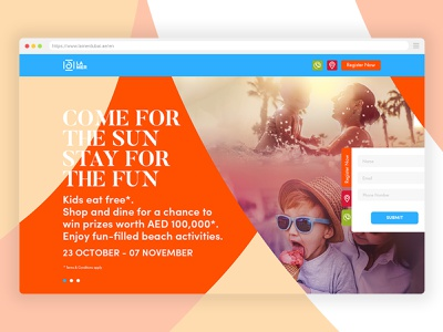 Campaign Landing Page - Lamer Dubai minimal flat creative design branding ui