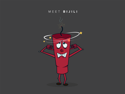Meet Bijili flat digital creative minimal soundless safe awareness illustraion design character mascot diwali