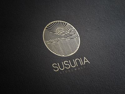 Stone Art Logo nature illustration branding digital creative design logo