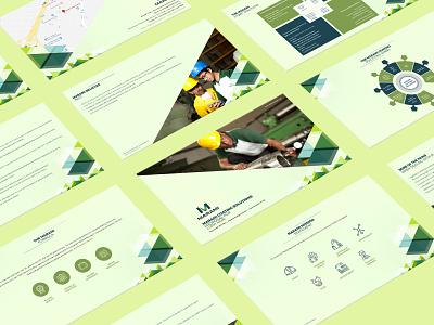 Marami Proposal Slides pattern vector branding presentation design industry