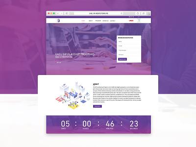 Entrepreneurial Program Home Page responsive design homepage illustration creative branding design ui