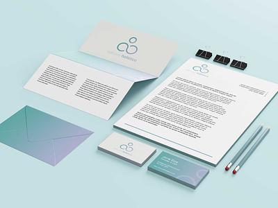 natural holistica stationary design branding logo