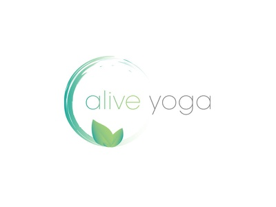 Alive Yoga natural sports yoga branding logo