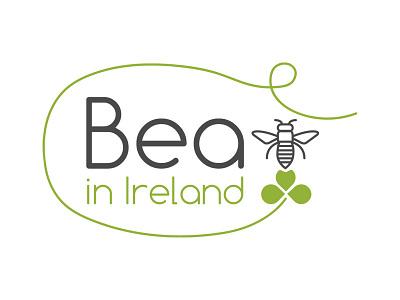 Bea in Ireland bee branding logo